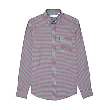 Buy Ben Sherman Gingham Long Sleeve Shirt, Blue/White Online at johnlewis.com