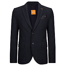Buy BOSS Orange Benefit Blazer, Navy Online at johnlewis.com