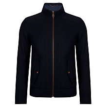 Buy BOSS Orange Onzoom Biker Jacket, Navy Online at johnlewis.com