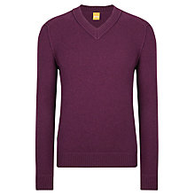 Buy BOSS Orange Kaamilo V-Neck, Potent Purple Online at johnlewis.com