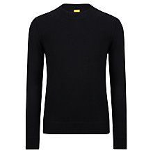 Buy BOSS Orange Adwinno Virgin Lambswool Jumper, Black Online at johnlewis.com