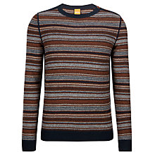 Buy BOSS Orange Kord Stripe Jumper, Multi Online at johnlewis.com
