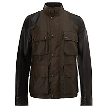 Buy Belstaff Rothbury Jacket, Black Online at johnlewis.com