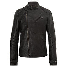 Buy Belstaff Kendall Blouson Leather Jacket, Black Online at johnlewis.com