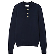Buy Jigsaw Merino Half Placket Knit Online at johnlewis.com