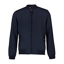 Buy Ted Baker Fosuede Micro Fibre Bomber Jacket, Navy Online at johnlewis.com