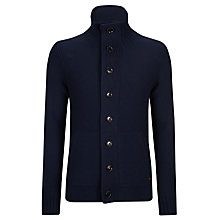 Buy BOSS Orange Kamare Button Cardigan, Sky Captain Online at johnlewis.com