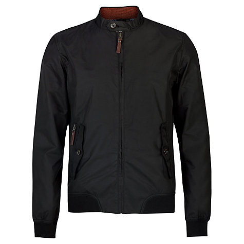 Buy Ted Baker Bilbo Nylon Bomber Jacket, Black Online at johnlewis.com