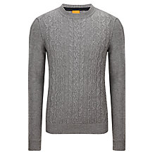 Buy BOSS Orange Klaas Cable Jumper, Castle Online at johnlewis.com