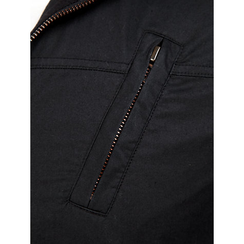Buy BOSS Orange Zip-Up Jersey Top, Black Online at johnlewis.com
