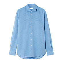 Buy Jigsaw Regular Fit Jacquard Spot Shirt, Summer Blue Online at johnlewis.com