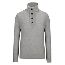 Buy BOSS Orange Amare Button-Neck Jumper, Castle Online at johnlewis.com