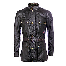 Buy Belstaff Roadmaster Leather Jacket, Black Online at johnlewis.com