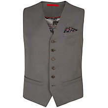 Buy Ted Baker Farawai Cotton Birdseye Waistcoat, Grey Online at johnlewis.com