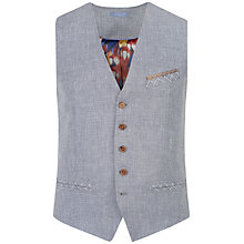 Buy Ted Baker Eowai Linen Blend Waistcoat, Navy/White Online at johnlewis.com