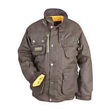 Buy Barbour Boys' Rake Waxed Jacket, Olive Online at johnlewis.com