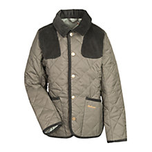 Buy Barbour Boys' Fauntleroy Quilted Jacket, Olive Online at johnlewis.com