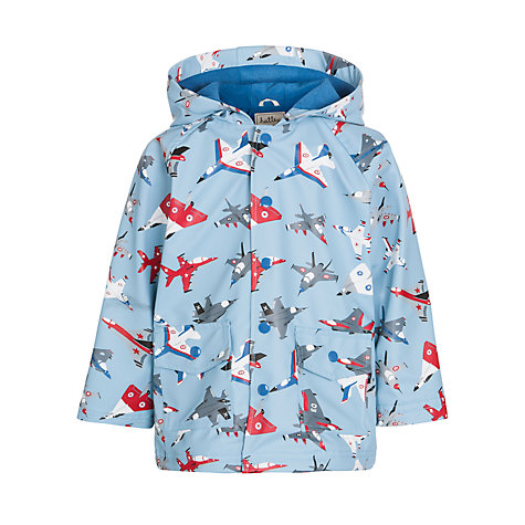 Buy Hatley Plane Print Raincoat, Pale Blue Online at johnlewis.com