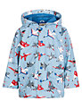 Hatley Plane Print Raincoat, Pale Blue