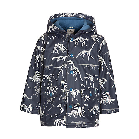 Buy Hatley Dinosaur Bones Print Raincoat, Navy Online at johnlewis.com