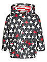Hatley Star Print Raincoat, Charcoal/Red
