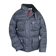 Buy Barbour Boys' Jeffries Quilted Jacket, Grey Online at johnlewis.com