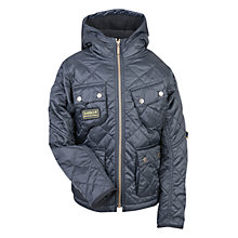 Buy Barbour Boys' Paxton Quilted Jacket, Charcoal Online at johnlewis.com