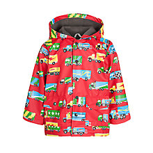 Buy Hatley Big Trucks Print Raincoat, Red Online at johnlewis.com