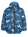 Hatley Boy's Reversible Moose Puffer Coat, Navy