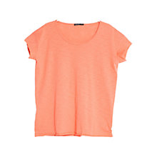 Buy Mango Slub Cotton Short Sleeve T-Shirt Online at johnlewis.com