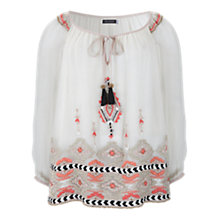 Buy Mint Velvet Keira Embroidered Tunic, Multi Online at johnlewis.com