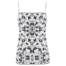 Buy Mint Velvet Liza Print Cami Top, White Online at johnlewis.com