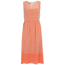 Buy NW3 by Hobbs Apollo Block Dress, Peach/Pink Online at johnlewis.com