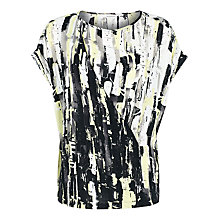 Buy Windsmoor Lunar Print Drape Top, Black Multi Online at johnlewis.com