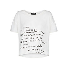 Buy Mango Message Cropped T-Shirt Online at johnlewis.com