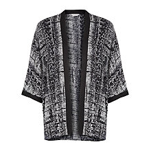 Buy Windsmoor Monochrome Print Kimono, Black Online at johnlewis.com