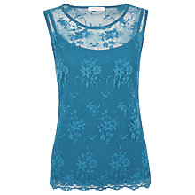 Buy Kaliko Lace Shell Top, Teal Online at johnlewis.com