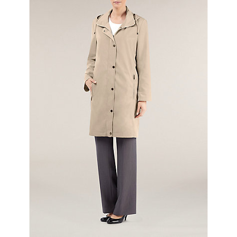 Buy Windsmoor Funnel Neck Raincoat, Biscuit Online at johnlewis.com