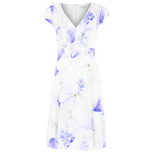 Buy Kaliko Floral Printed Tea Dress, Light Blue Online at johnlewis.com
