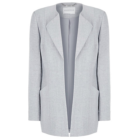 Buy Windsmoor Longline Jacket, Silver Grey Online at johnlewis.com