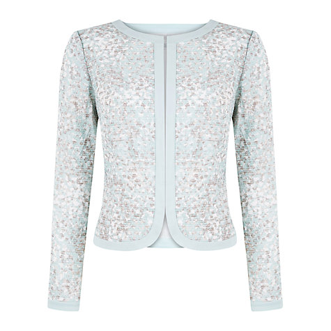 Buy Kaliko Mosaic Print Jacket, Light Blue Online at johnlewis.com