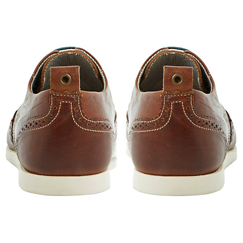 Buy Dune Babylon Leather Brogue Shoes, Tan Online at johnlewis.com
