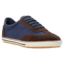 Buy Dune Teckers Wingtip Detail Trainers, Navy Online at johnlewis.com