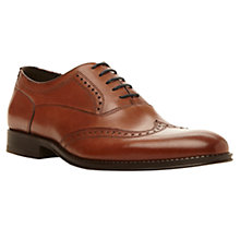 Buy Dune Aboard Gibson Leather Brogue, Tan Online at johnlewis.com