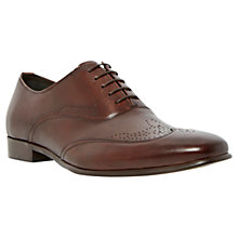 Buy Dune Admire Wingtip Leather Oxford Shoes, Brown Online at johnlewis.com