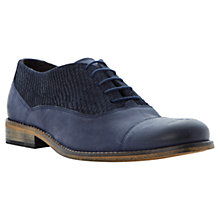 Buy Dune Bravado Texture Toe Nubuck Shoes Online at johnlewis.com