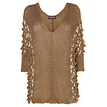 Buy Phase Eight Valencia Angelica Mix Stitch Knit Jumper, Sand Online at johnlewis.com
