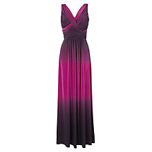 Buy Phase Eight Simone Dip Dyed Maxi Dress, Fuchsia/Burgundy Online at johnlewis.com