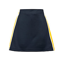 Buy Bishop Hatfield School Girls' Skort, Navy/Yellow Online at johnlewis.com