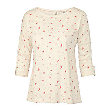 Buy Fat Face Button Back Scattered Birds T-Shirt Online at johnlewis.com
